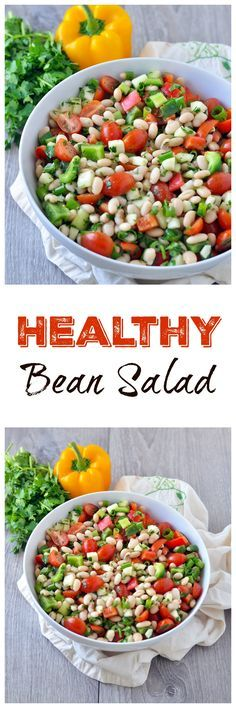This healthy white bean salad is a staple at any family parties.  It's always devoured.  Vegan and gluten free!