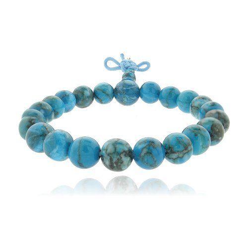 Teal Cats Eye Beaded Power Bracelet SilverSpeck.com. $5.99. Save 70%!