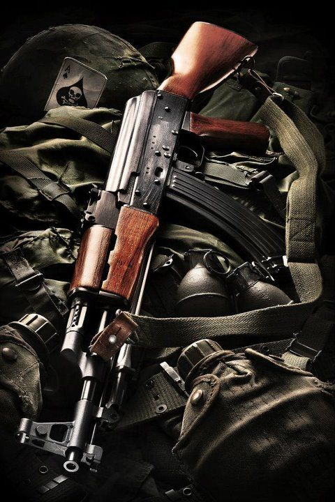 Type 56 assault rifle is the Chinese variant of the Russian AK-47 (photo by @trish bortner Denu)