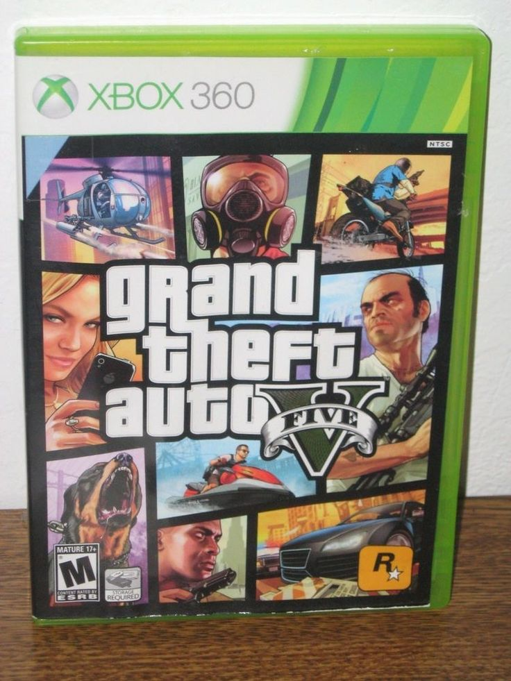 Grand Theft Auto V GTA 5 Xbox 360 Standard Edition Video Game 2 Disc VG #Xbox360