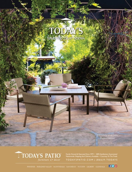 Brown Jordan Elements Collection   Todayu0027s Patio Magazine Ad