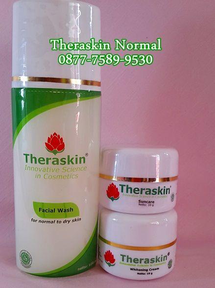 Theraskin Normal   Paket Theraskin Normal terdiri dari :  1. Facial wash 2. Suncare cream 3. Whitening Cream  Untuk informasi : SMS/WA : 0877-7589-9530 PIN BB 2881ED21