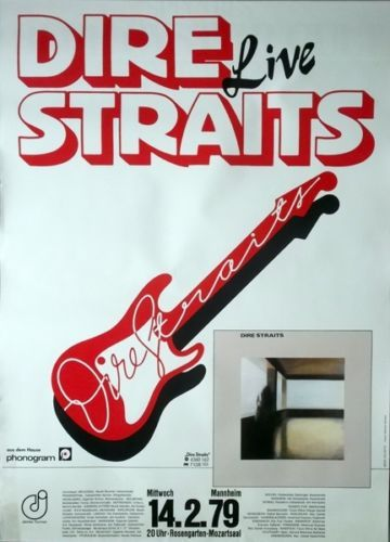 Dire Straits Concert Poster https://www.facebook.com/FromTheWaybackMachine/