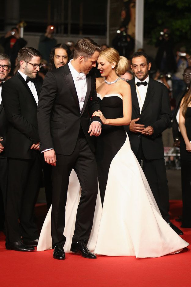 15 Photos Of Blake Lively Smiling With Her Husband Ryan Reynolds At Cannes #relationshipgoals