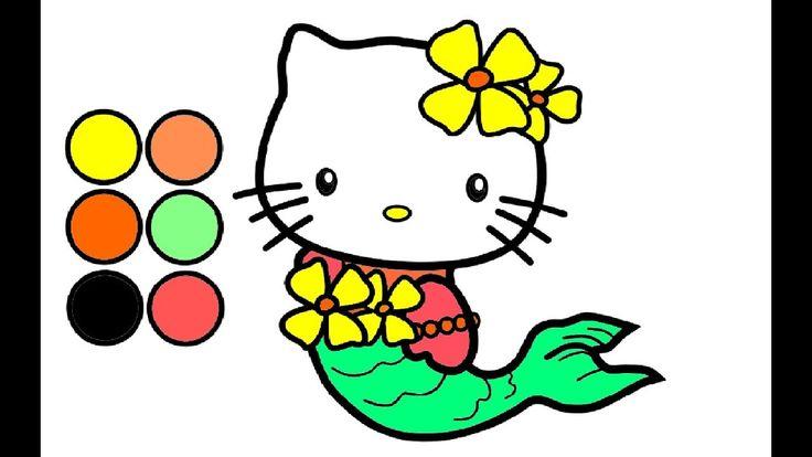 Wie zeichnet man Meerjungfrau Hello kitty l Zeichnen und