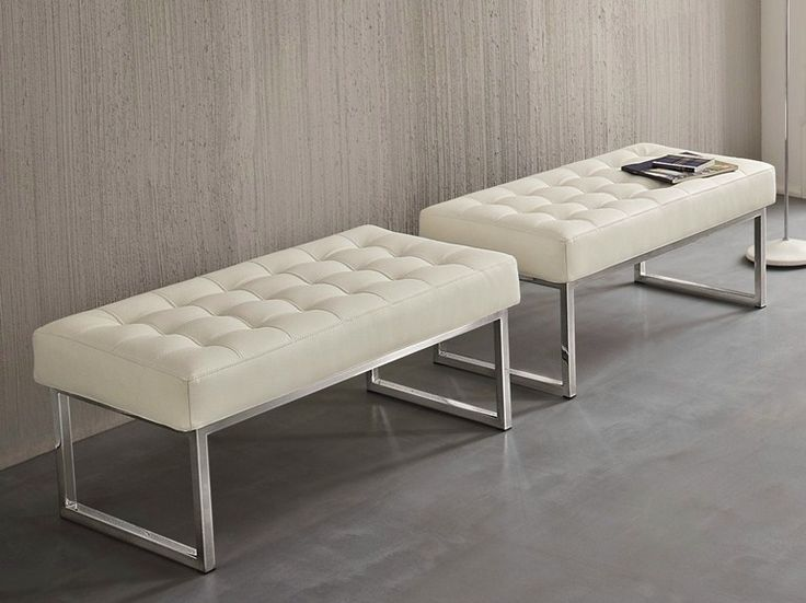 Upholstered leather bench STYLE by Dall�Agnese design Imago Design, Massimo Rosa