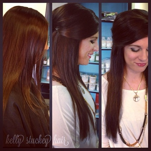 how to cut hair extensions to match hair length