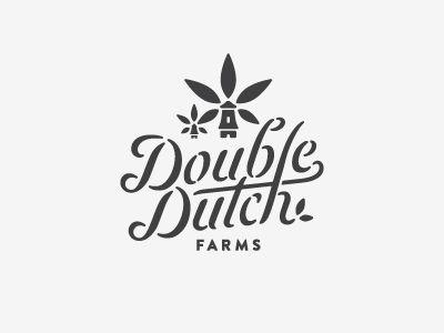 Double dutch farms logo lettering