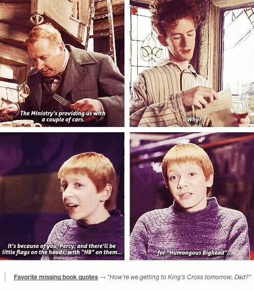 So true to haw the twins acted in the books