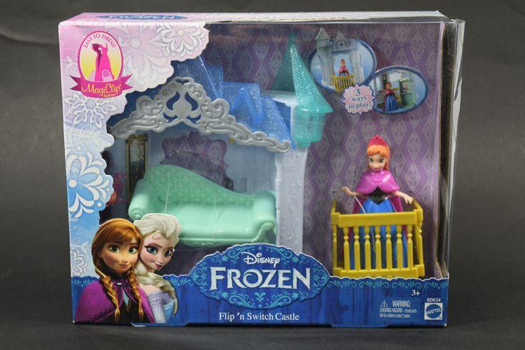 Mattel Disney Frozen MagiClip Flip 'N Switch Castle with Anna Doll  NRFB #Mattel