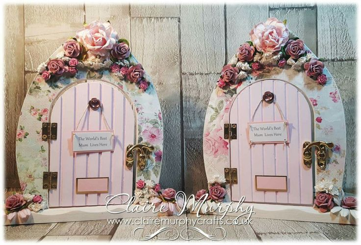 Shabby Chic Fairy Doors for Mother's Day