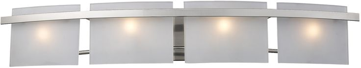 "0-065991>36""""w Briston 4-Light Halogen Bath Vanity Satin Nickel with Translucent Glass"