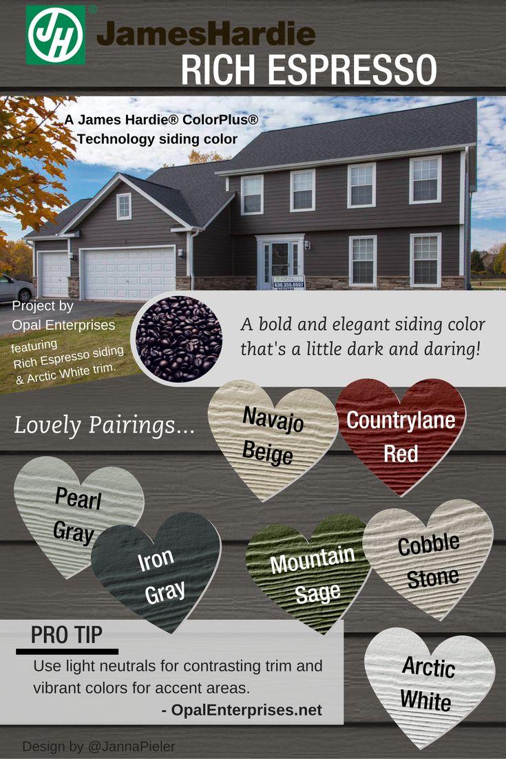 House colors on pinterest paint colors craftsman and james hardie - Rich Espresso Designing With James Hardie Siding Colors Opal Enterprises