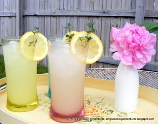 Thyme Infused Lemonade by Amy's Cooking Adventures