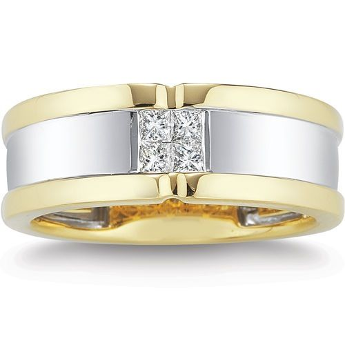 Like Square Diamond 2 Tone Gold On Out Men S Ringsmen Ringsprincess Cutmen Jewelrytwo Tonescostcowedding