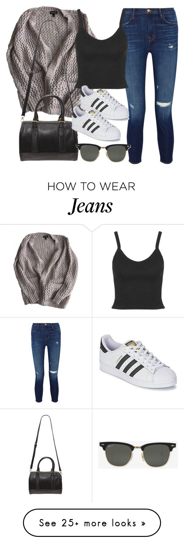 """Style #11571"" by vany-alvarado on Polyvore featuring J Brand, Topshop, Forever 21, adidas and Ray-Ban"