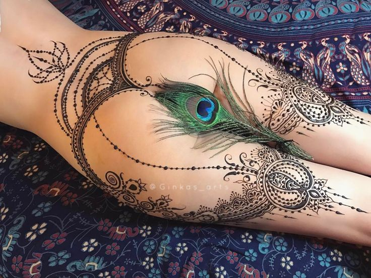 "6,868 Likes, 77 Comments - The Art of Mehndi&Erotic Henna (@ginkas_arts) on Instagram: ""Pomegranate garters Авторская эротическая роспись хной - гранатовый восточный пояс с чулками…"""
