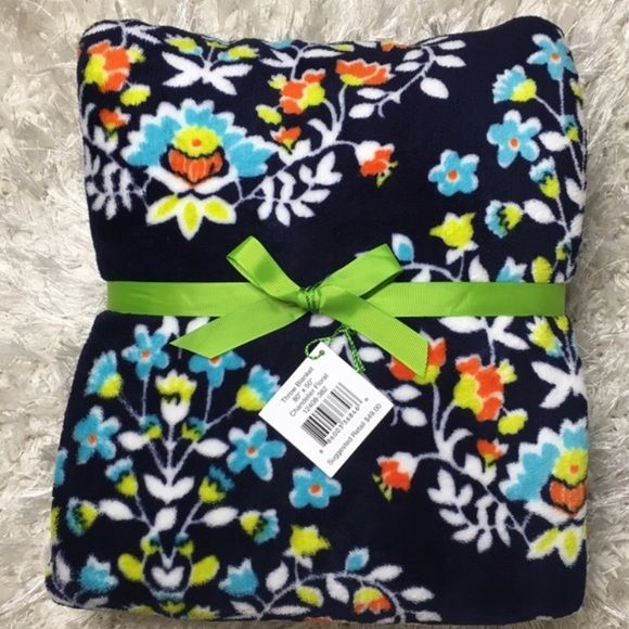 """Throw Blanket Super Soft Fleece Chandelier Floral Brand new, never used, with tag! Extremely soft & plush fleece throw blanket. 80""""x 50"""". LKing for more Vera Bradley items, visit my closet! PRICE FIRM UNLESS BUNDLED Vera Bradley Other"""