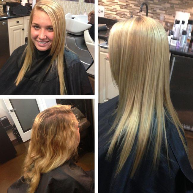Blonde hair treatment