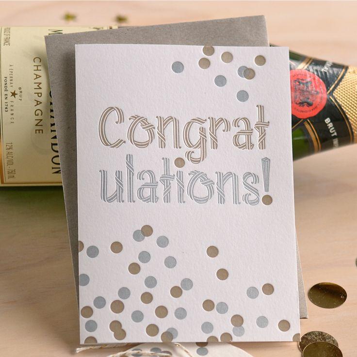 Fluid Ink Letterpress Congratulations Card