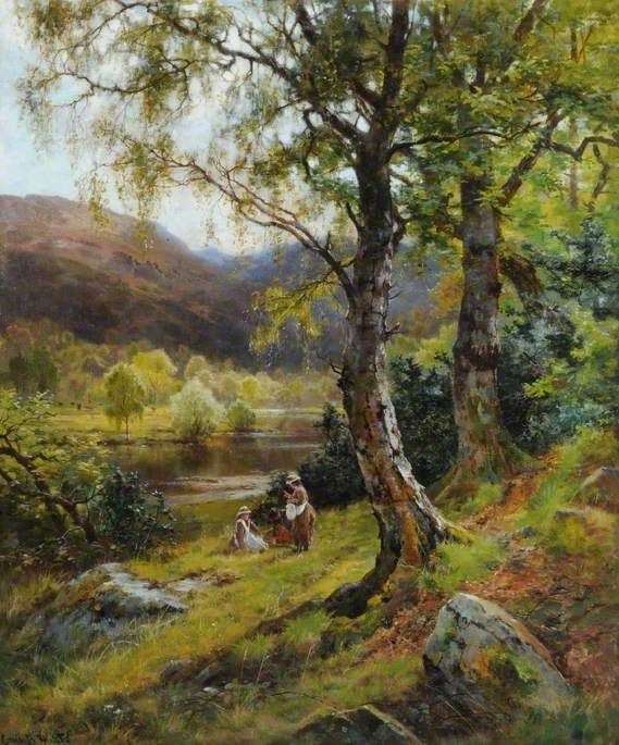 A Pleasant Stream in a Quiet Land, c.1890 by Louis Bosworth Hurt (English 1856–1929)