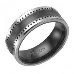 Triton Tungsten Carbide & Ceramic Inlay Wedding Ring | Engagement Rings | Wedding Bands | Loose Diamonds | Fine Jewelry