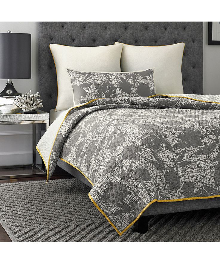 Pem America Gray Berlin Abstract Flower Quilt | zulily