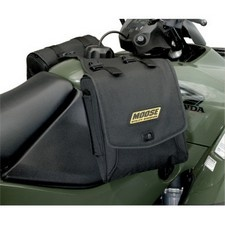 MOOSE EXPEDITION TANK BAGUnique pony express style throw over bag system for your ATV fuel tankQuality cargo bags with riveted straps and carrying handles adds true functionality to your ATVNon-slip yoke installs quickly with hook-and-loop fasteners under your ATVs gas cap (also without gas cap)