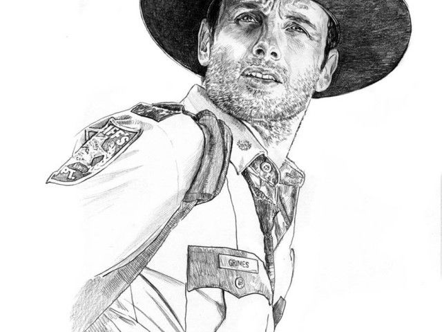 The Walking Dead Daryl Coloring Pages Rick The Walking