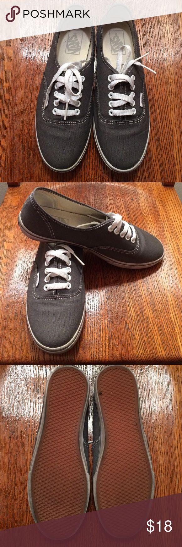 Vans LoPro classic sneakers Womens' gray Vans LoPro sneakers. Have been worn but still in great shape. Vans Shoes Sneakers