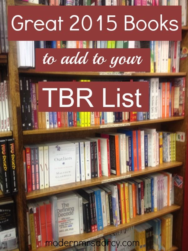 Highly anticipated 2015 releases to add to your TBR list.