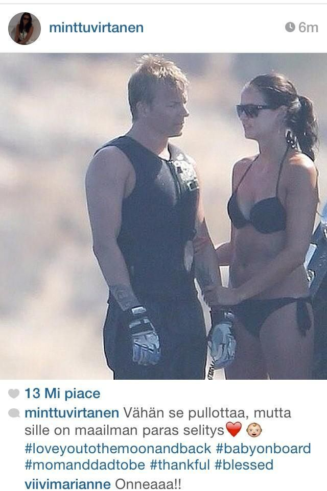 Kimi Raikkonen to be a father! --- OMG! Congrats to both of them!