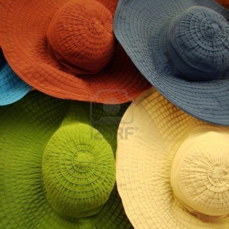 cappelli estivi colorati Archivio Fotografico