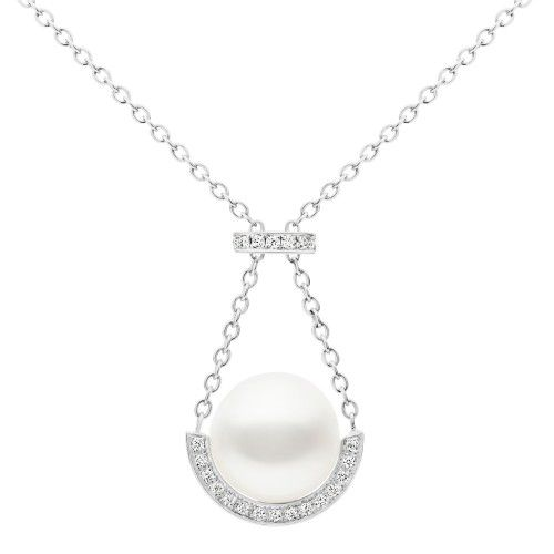 A Kailis Australian South Sea pearl necklace set in 18ct gold and diamonds. View our collection of pearl and antique jewellery at www.rutherford.com.au