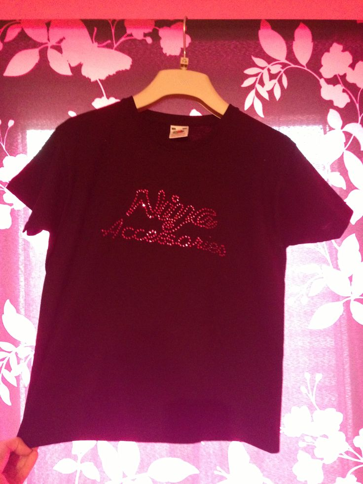 Custom crystallised t-shirts £8.99 www.sparklesbysam.co.uk