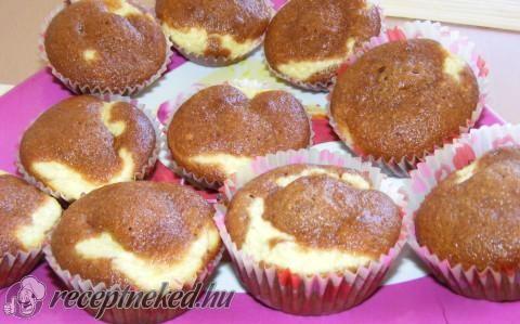 Túrós muffin recept fotóval