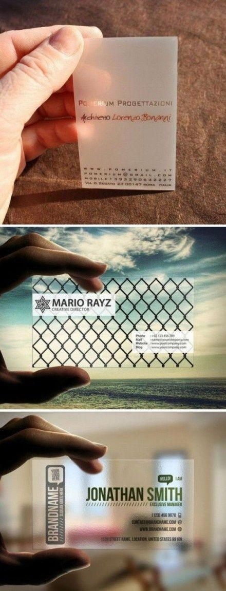 The 186 best Transparent Business Cards Arc Reactions images on ...