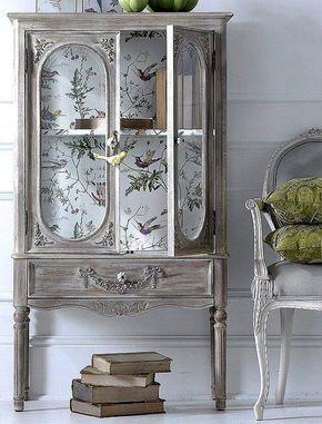 Cómo decorar muebles con papel pintado