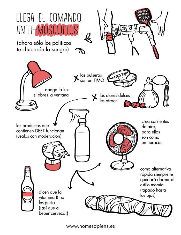 Para que este verano no te piquen los mosquitos... http://homesapiens.es/2013/07/las-reglas-del-comando-anti-mosquitos/