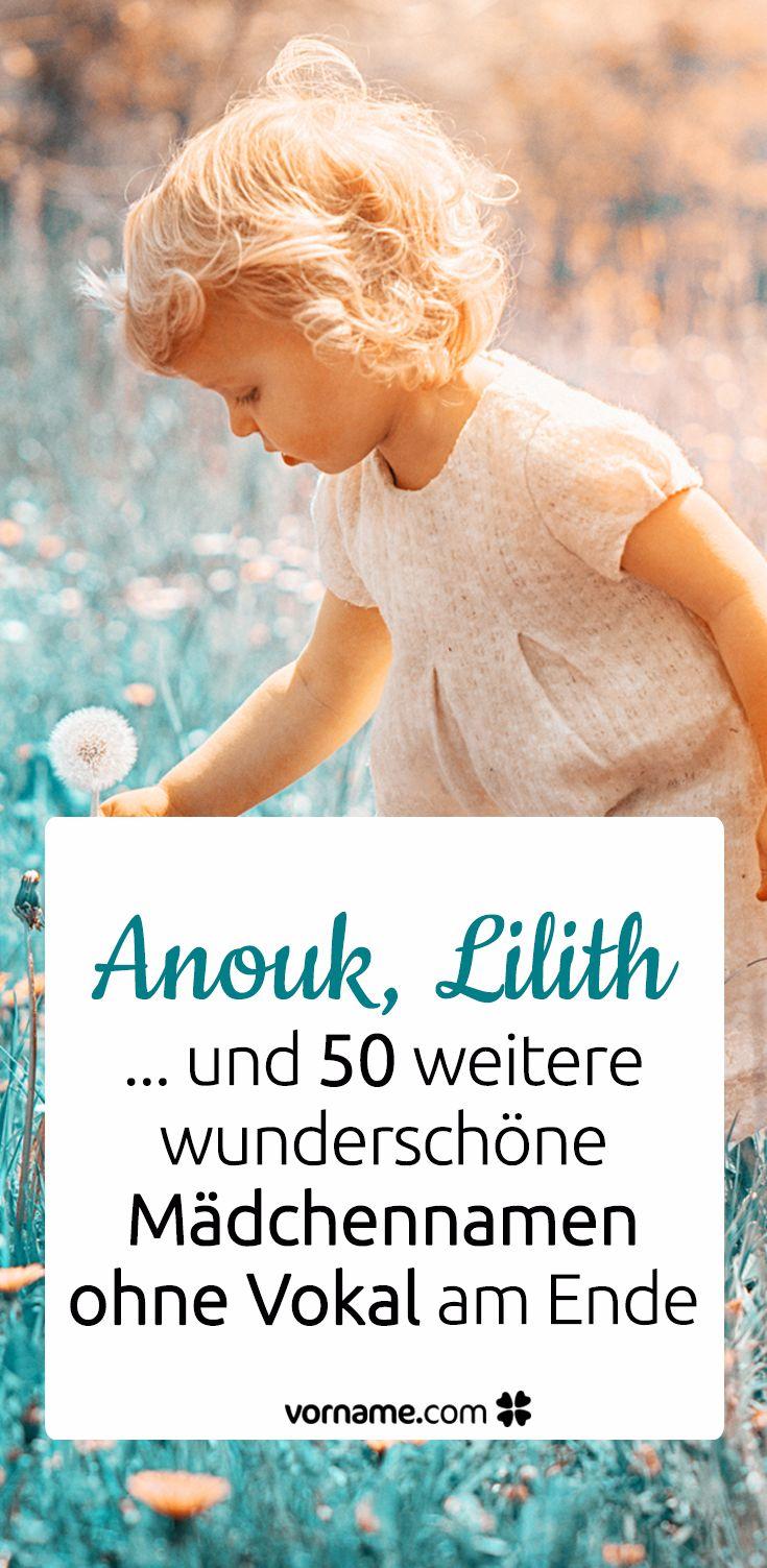 52 tolle Mädchennamen ohne Vokalendung – Vorname.com