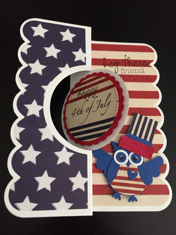 Lovely 4th Of July Card Making Ideas Part - 14: Owl Punch 4th Of July Card