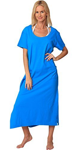 cbaffa4e19764 SLR BRANDS Plus Size Cotton Stretchy Flowy Loose Fit Tunic Casual Beach  Dress with Pocket