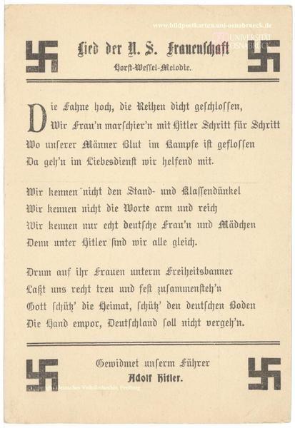 Lied der NS-Frauenschaft - Melodie: Horst Wessel Lied
