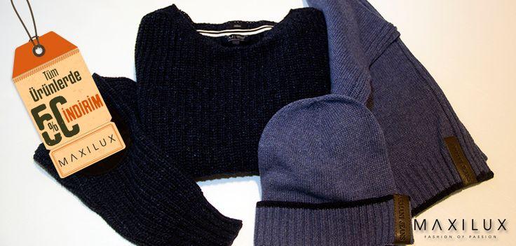 Armani Jeans'in kazakları ve bereleri ile kışlar sıcacık :) #Maxilux #Giyim #Marka #Moda #AJ #Fashion #Brand