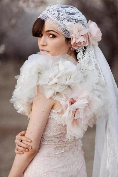 Vintage style wedding gown.  Beautiful.