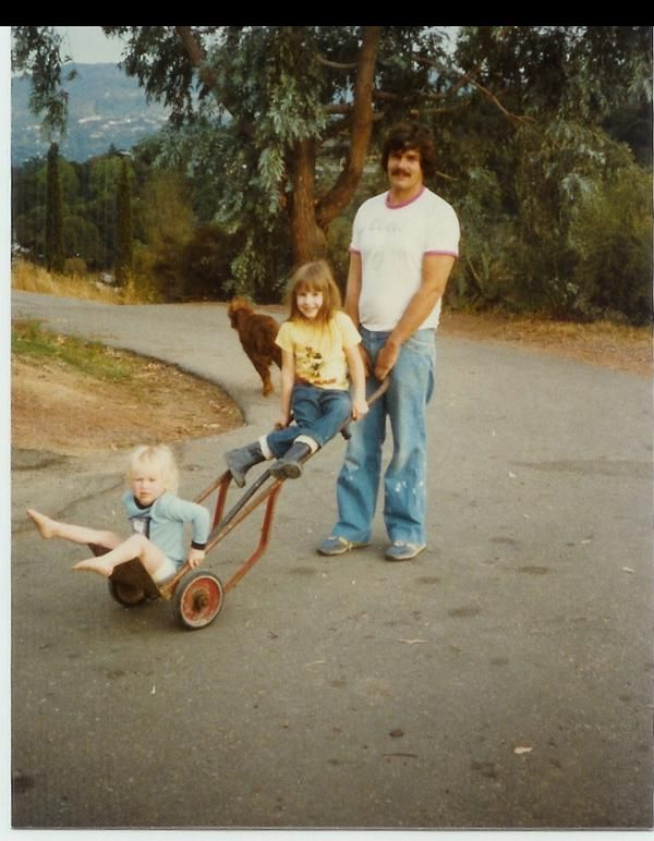Another young Kari Byron with her father & sister.