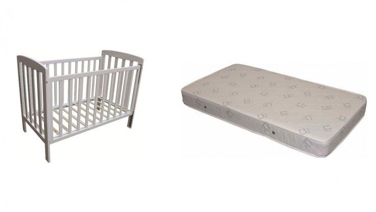 Childcare Bristol Cot and Innerspring Mattress Bundle - White - Harvey Norman, okay price