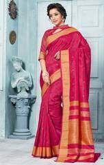 Rani Pink Color Art Silk Party Wear Sarees : Maima Collection YF-63901