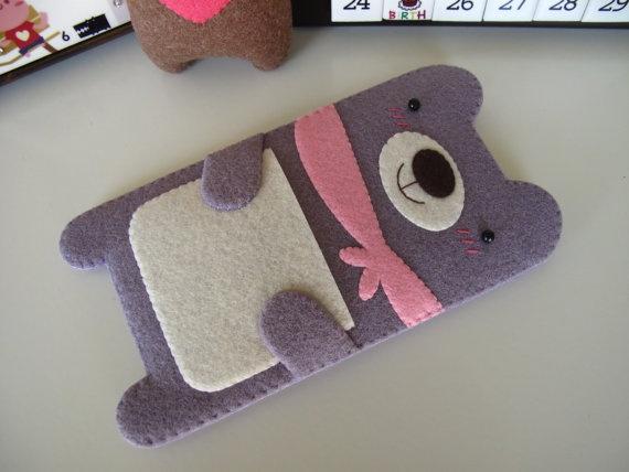 Light Purple Bear iPod Classic Case by FeltLLang on Etsy, $32.00