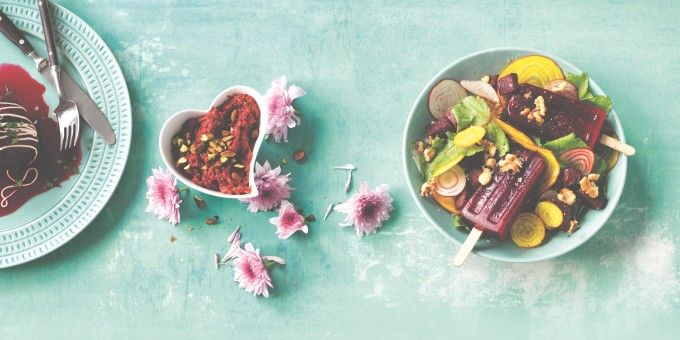 A vibrant, fresh salad that is hard to beet. I Quit Sugar's Beet That Popstick Salad by Simplicious